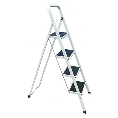 Tremendous Lazery Folding Lightweight Step Ladder Step Stool With Rail 4 Steps White And Black 2025 Pabps2019 Chair Design Images Pabps2019Com