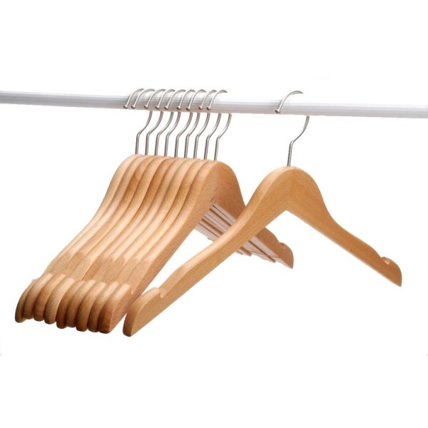 Natural wooden coat hangers 1