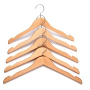 natural wood coat hangers 1