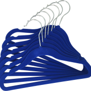 blue hangers